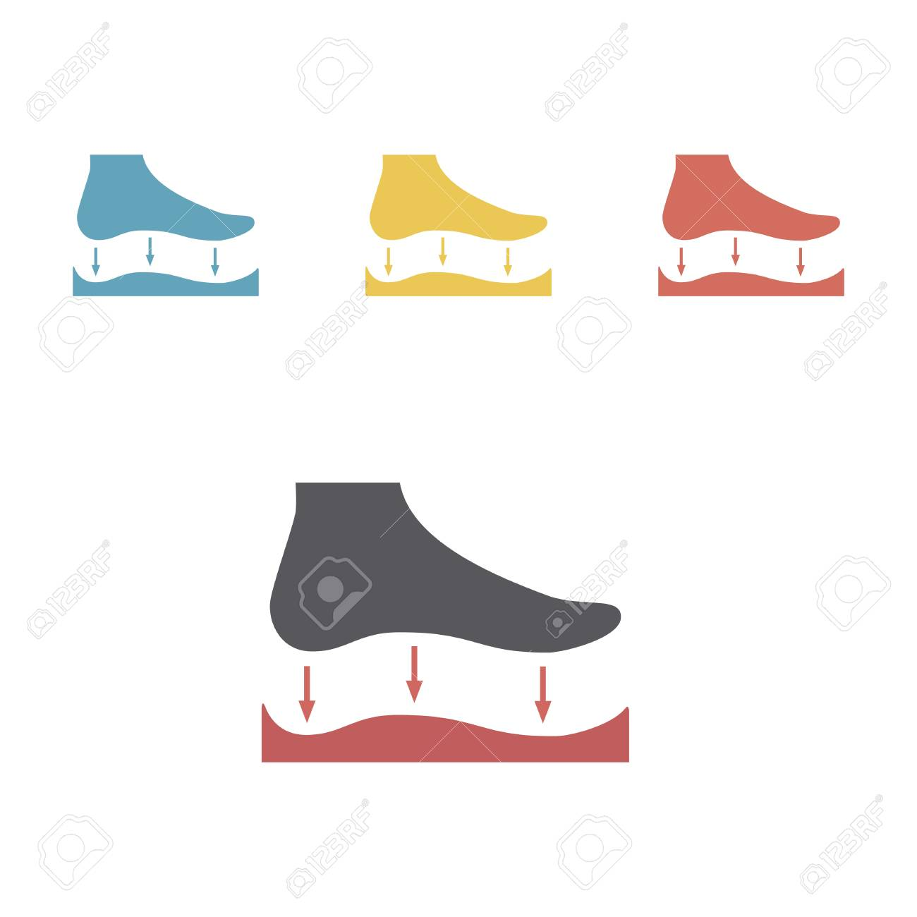 Orthopedic insoles icon isolated on white background. Vector signs for web graphics. - 105833172