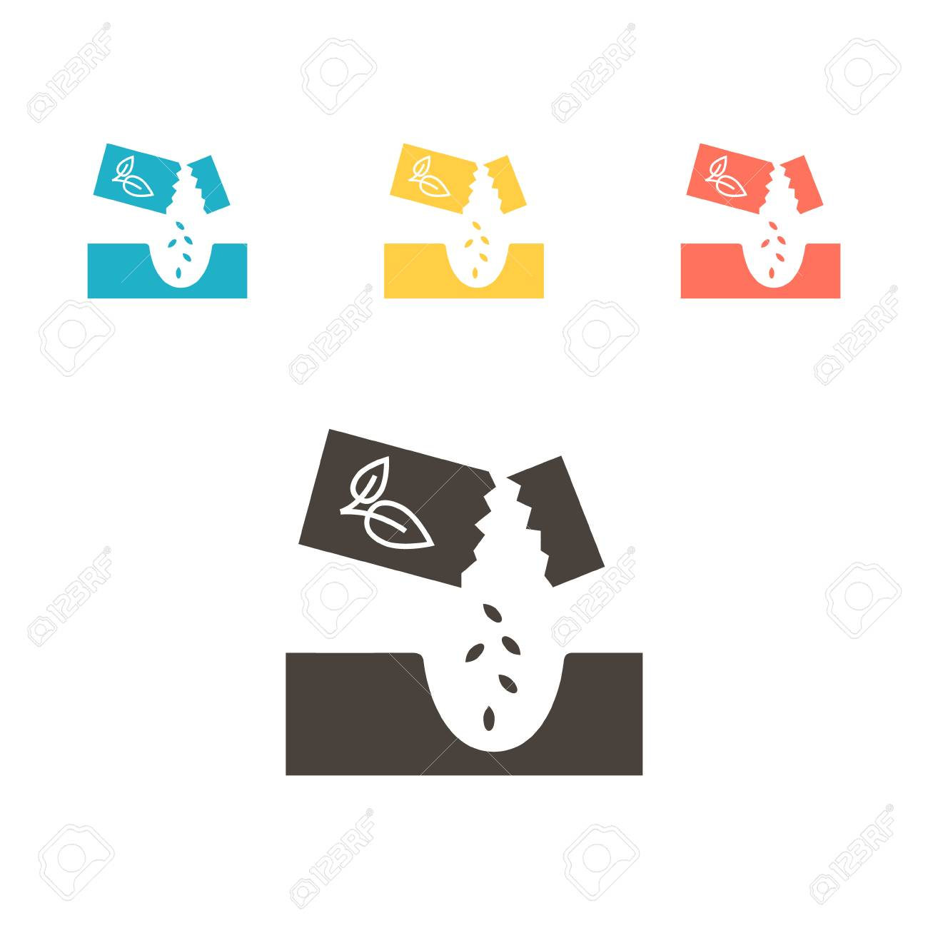 Seed packet icon. Vector illustration - 109879263