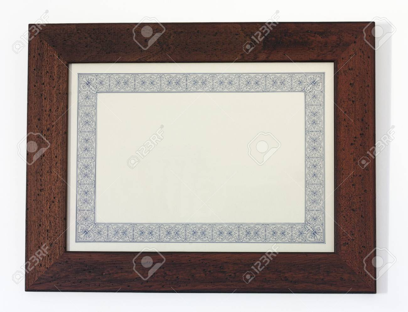 a picture frame isolated on white, for filling with text or picture - 12743104