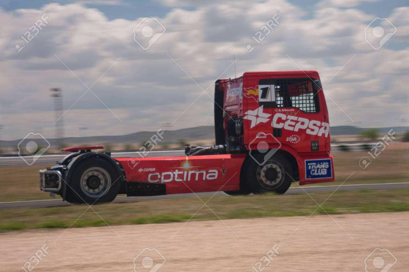 Albacete Circuit : Albacete spain jun 5: spanish driver antonio albacete in cepsa