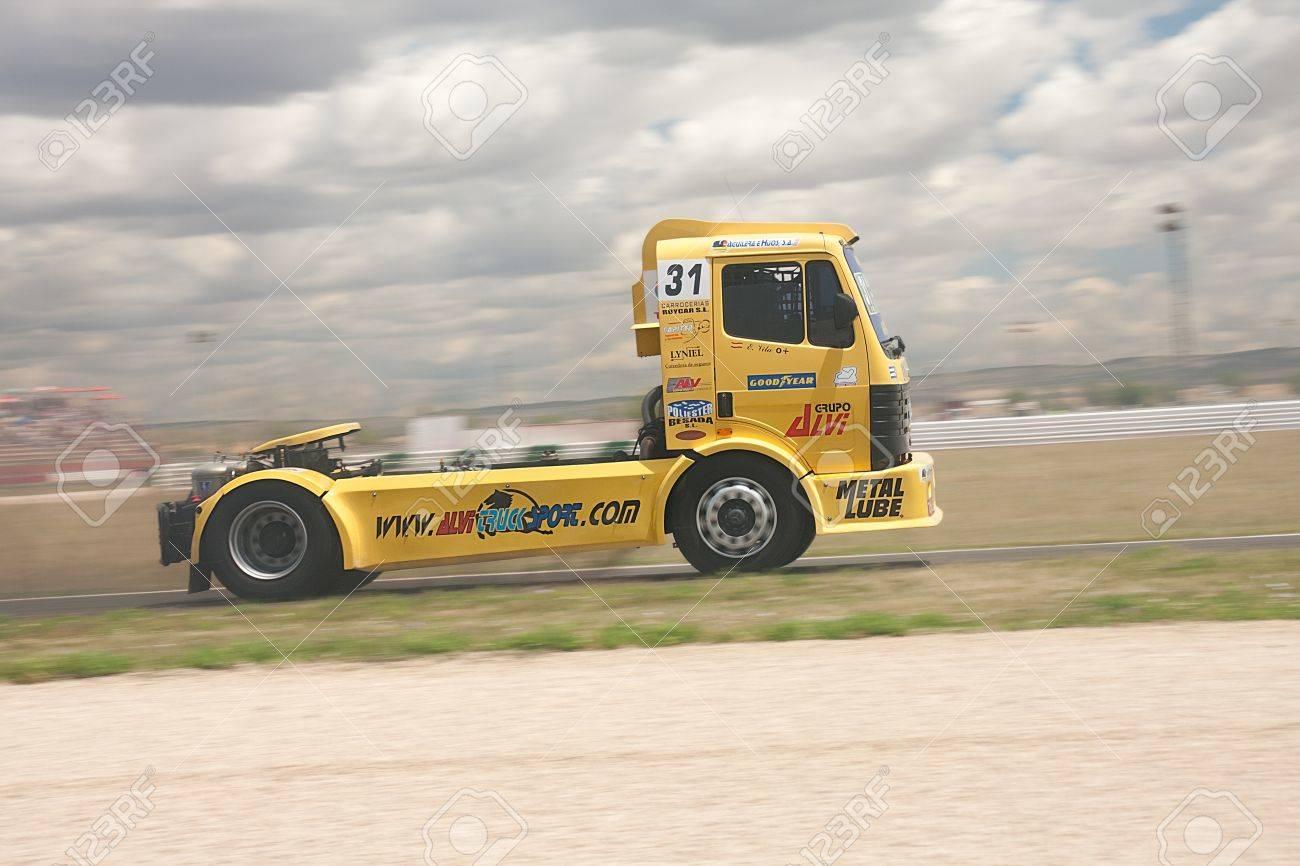 Albacete Circuit : Albacete spain jun 5: truck drived by enrique vila for mercedes