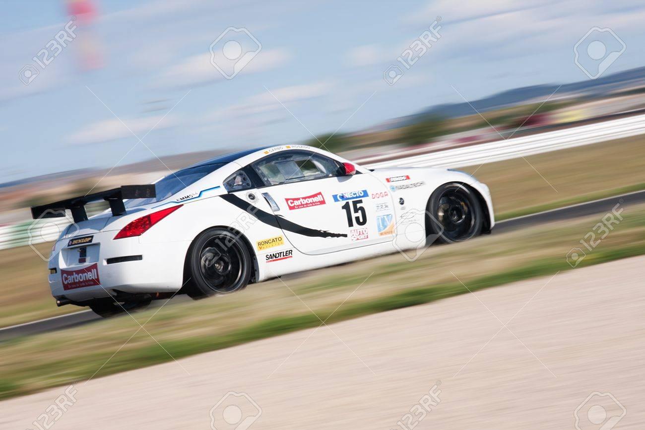 Albacete Circuit : Albacete spain jun 5: spanish driver manuel rosado in nissan