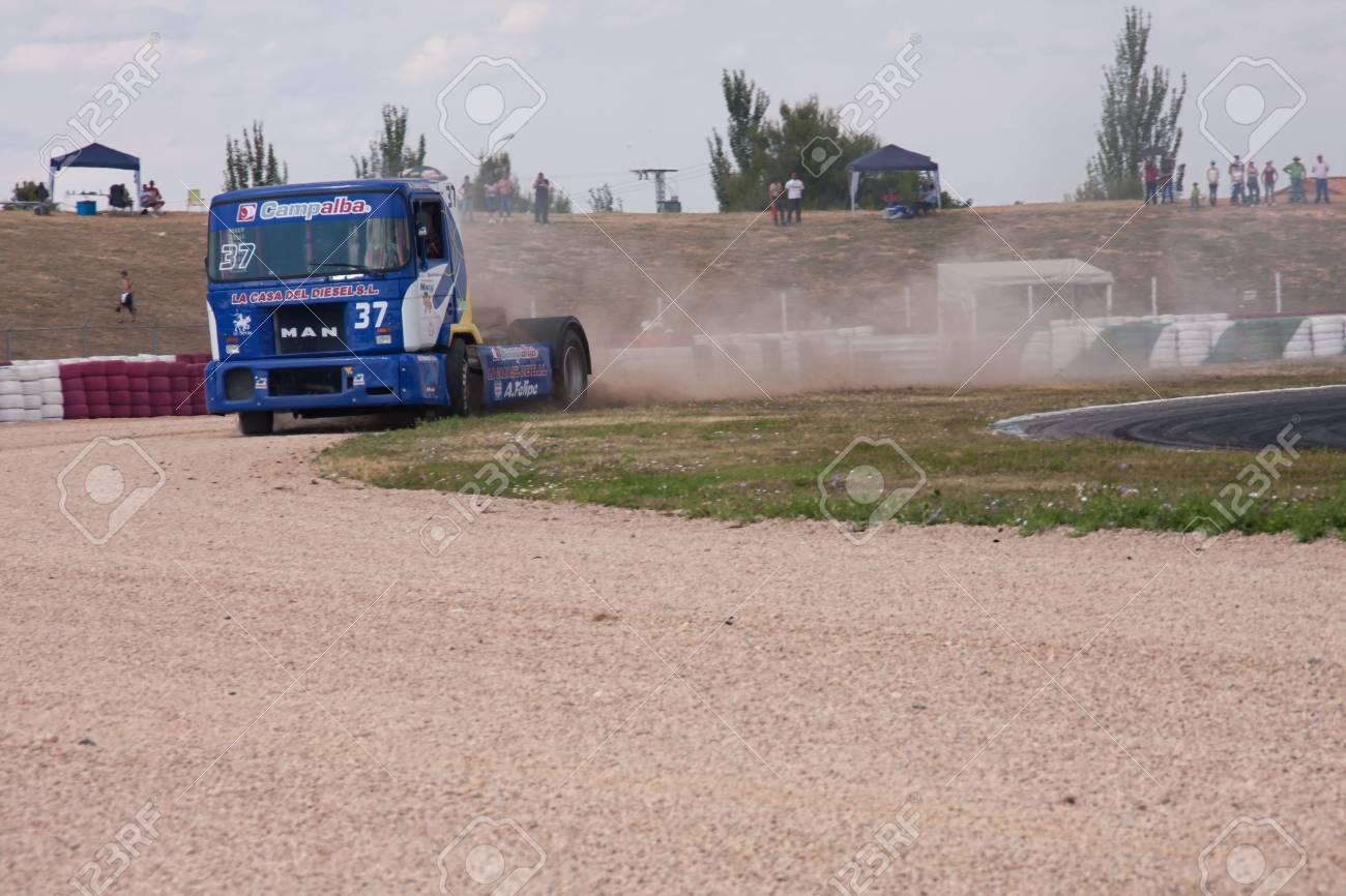 Albacete Circuit : Albacete spain jun 5: spanish driver david felipe in man team