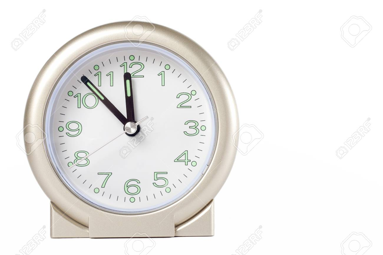a clock isolated on white Stock Photo - 13193474