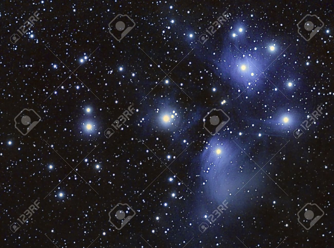 A Stars cluster and nebula, taken with apochromatic telescope - 15797330