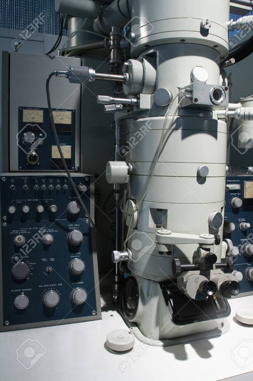 transmission electron microscope used in antivirus research - 145808185