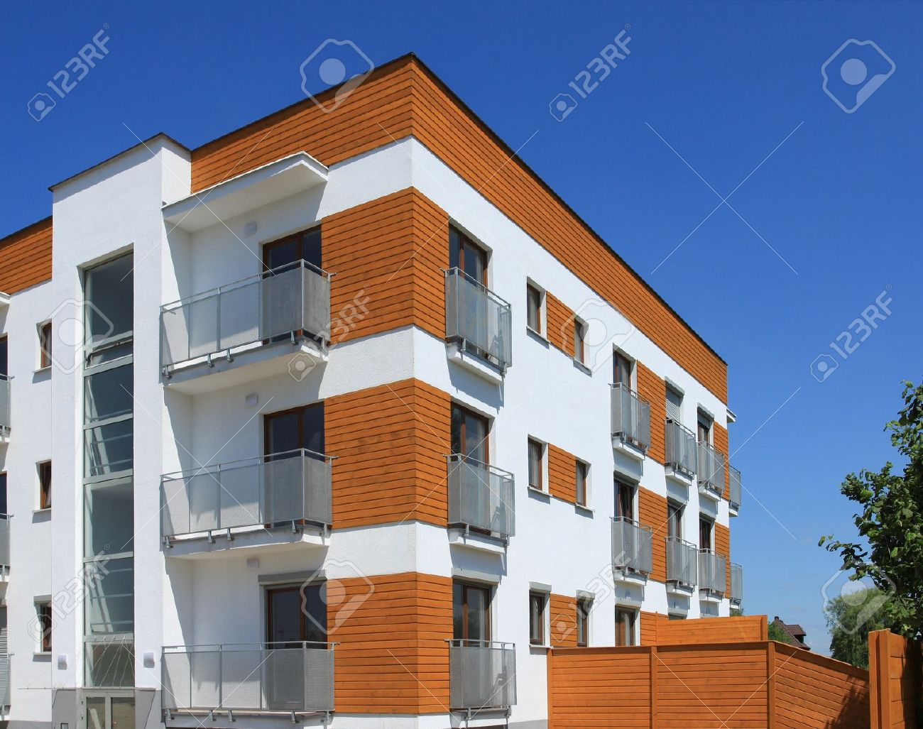 Average contemporary apartment building in poland generic residential architecture stock photo 7820525