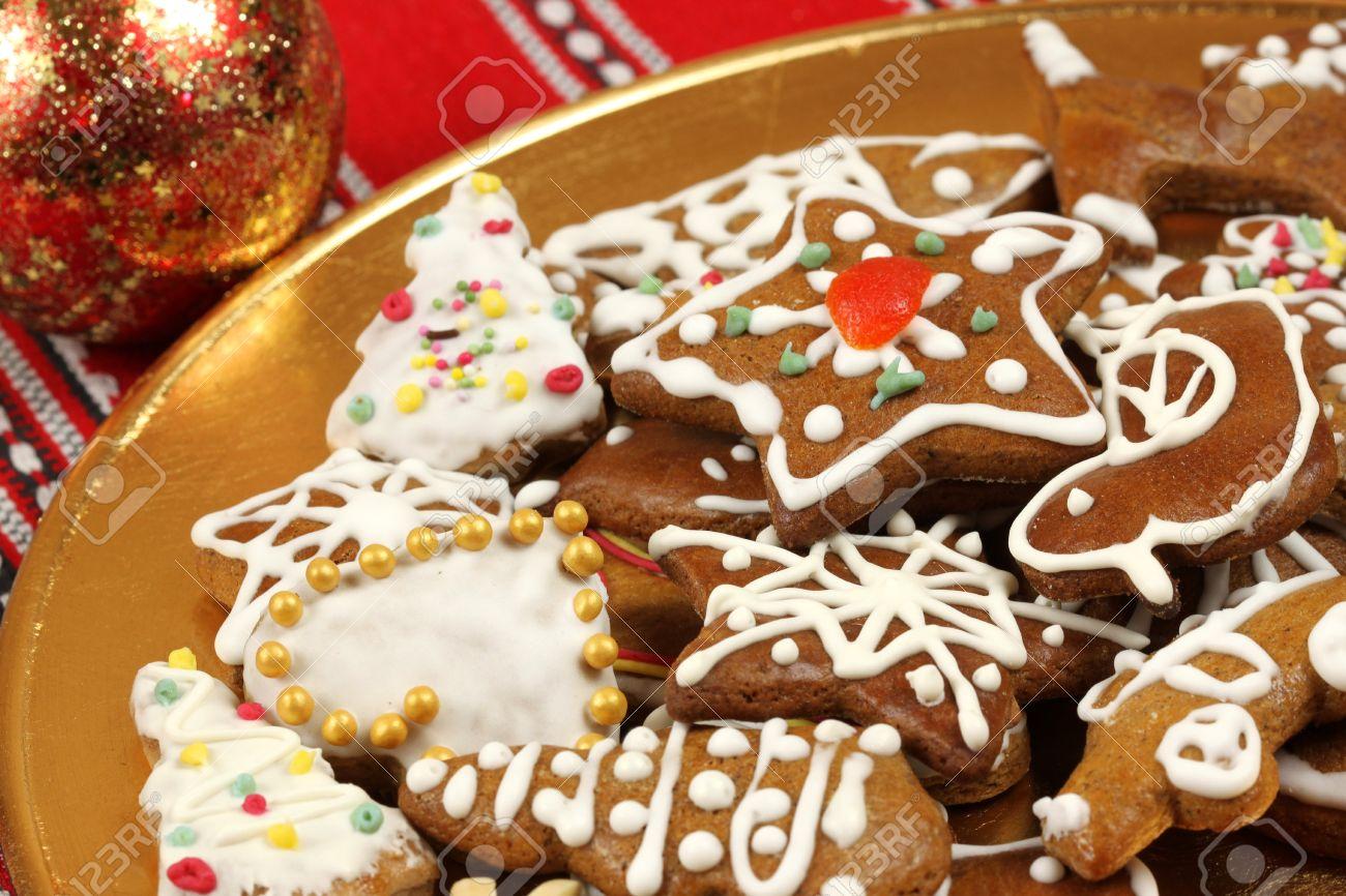 Traditionelles Weihnachtsgebäck.Stock Photo
