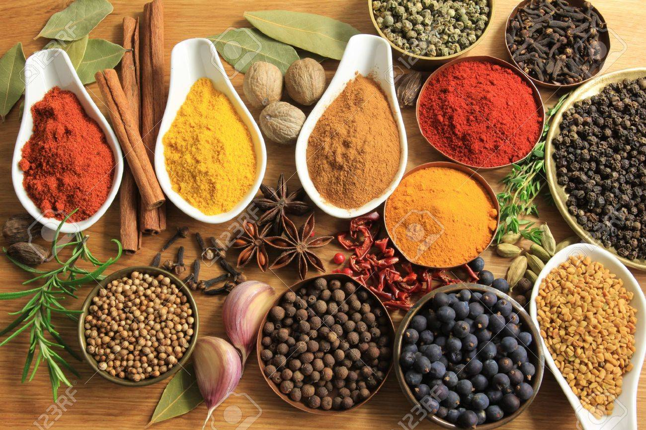 Various spices selection. Food ingredients and aromatic additives. Stock Photo - 11131803
