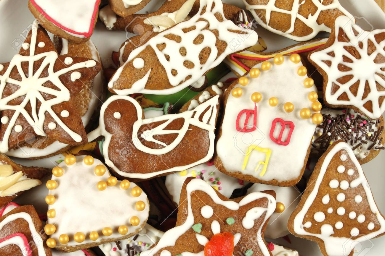 Christmas Gingerbread Cookies Polish Traditional Xmas Sweets