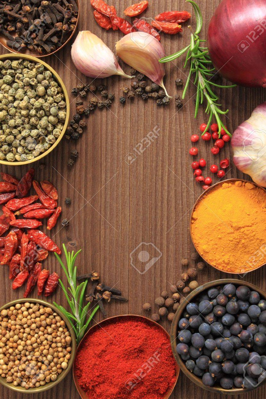Various spices selection. Food ingredients and aromatic additives. Stock Photo - 10756129