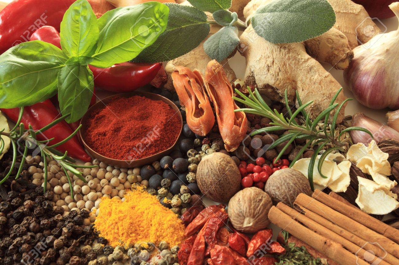 Herbs and spices selection. Aromatic ingredients and natural food additives. - 11297714