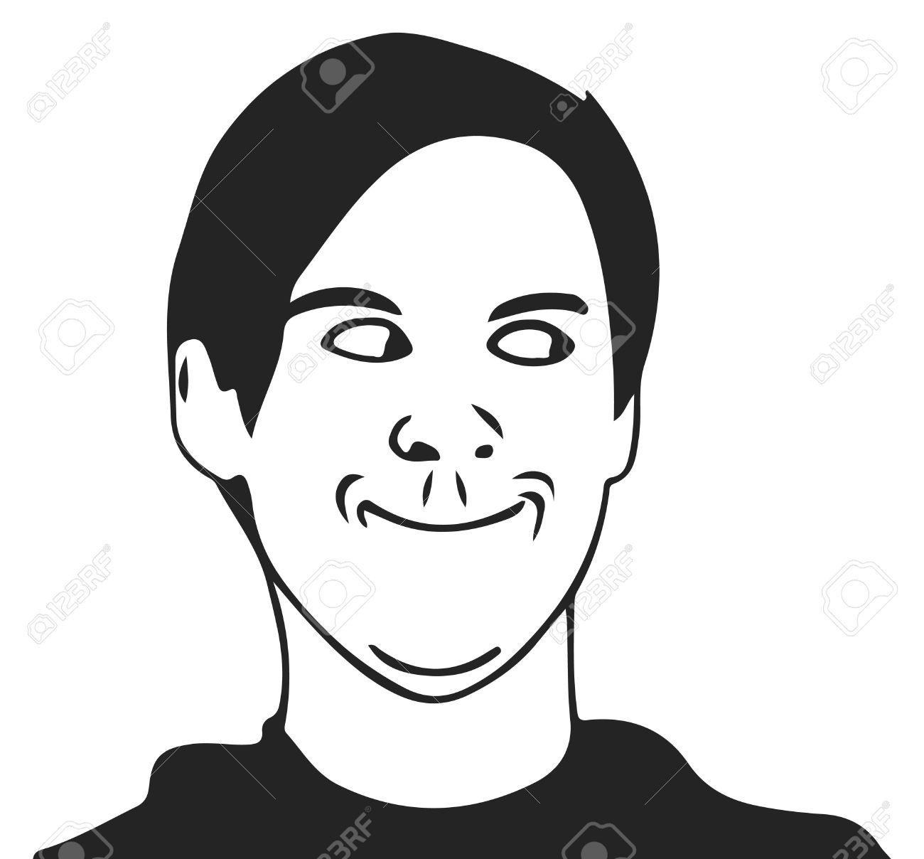 troll guy meme face for any design royalty free cliparts vectors