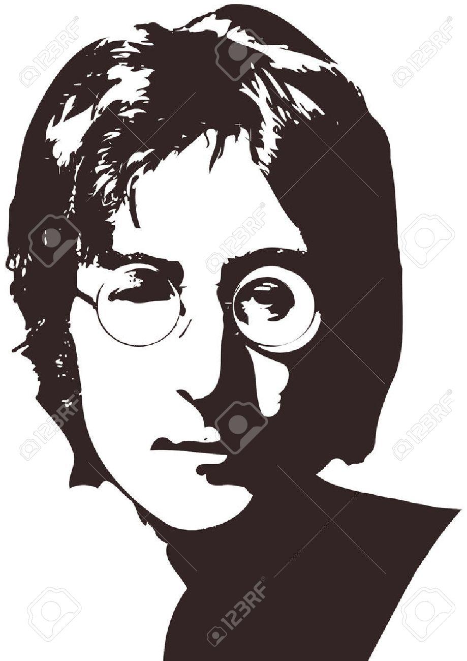 A vector illustration of a portrait of singer john lennon on a vector illustration of a portrait of singer john lennon on a white background a4 buycottarizona