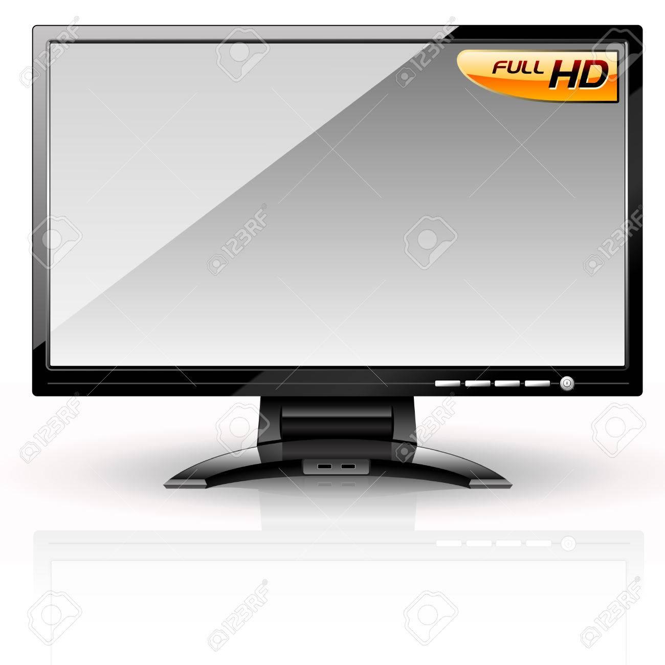 LCD Panel: Grey variant. Editable vector Stock Vector - 4896509