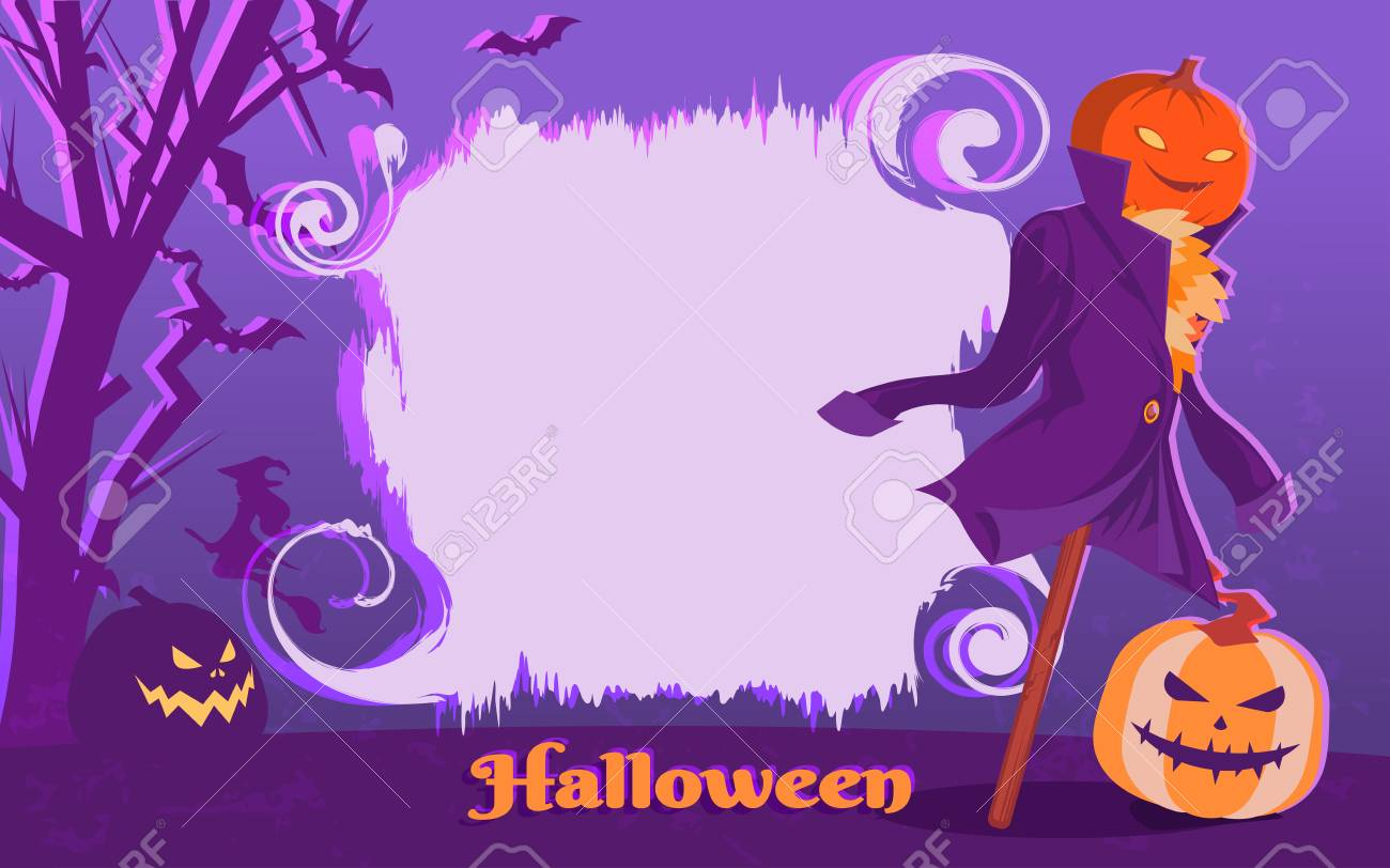 halloween poster template design vector illustration royalty free