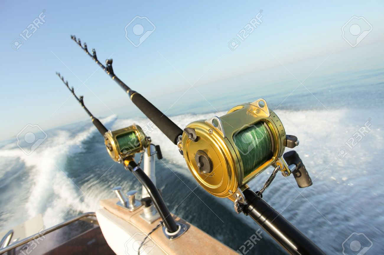big game fishing reels and rods reels and rods stock photo, Reel Combo