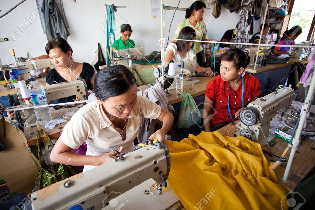 small textile factory Stock Photo - 13861121