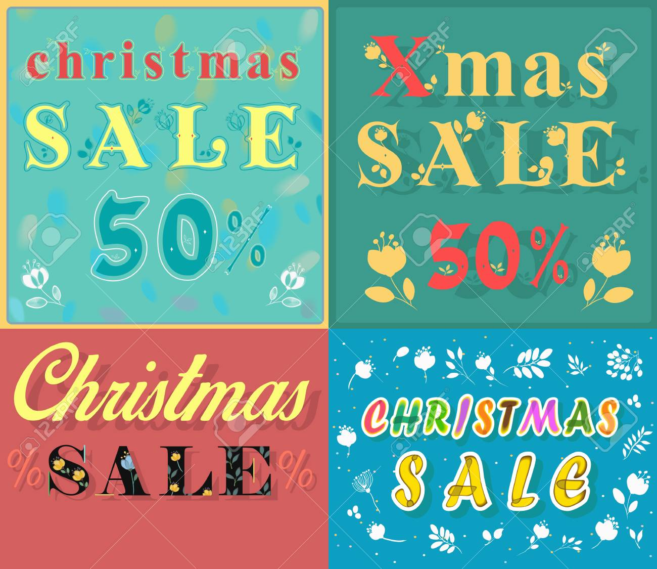 Christmas Cards For Retail. Artistic Font. Texts - Christmas ...