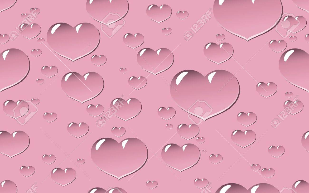 Seamless tile and background of droplets in shape of heart in different sizes Stock Vector - 9404140