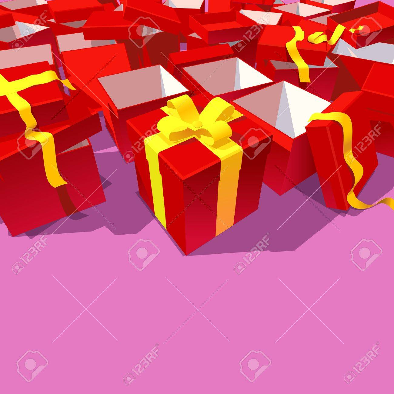 The New Present and  lots of opened ones Stock Vector - 9931961