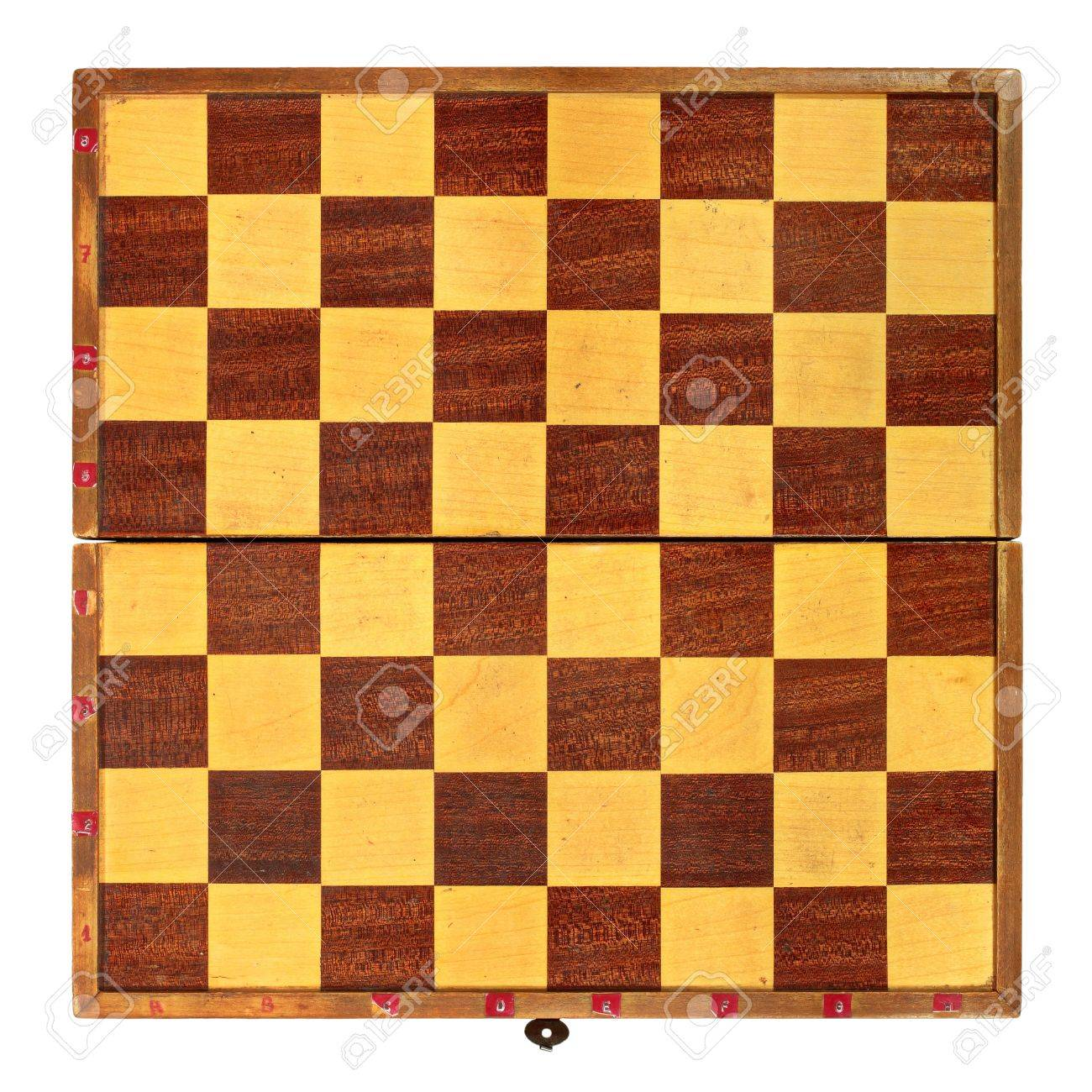 Old Coarse Chess Table Stock Photo - 11810825