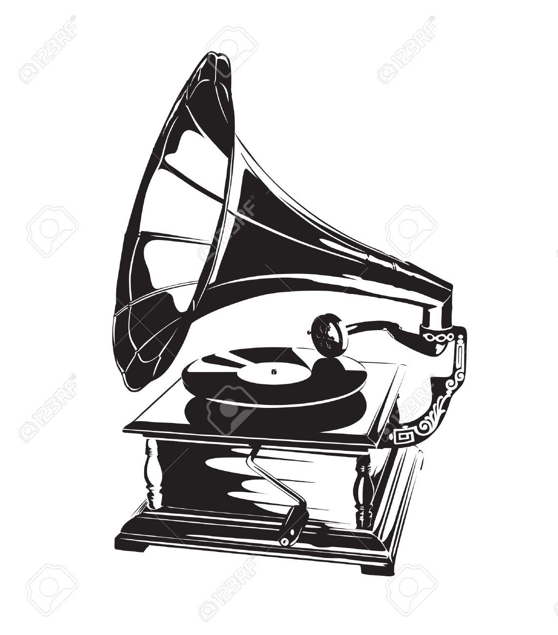 vintage gramophone stencil royalty free cliparts vectors and stock illustration image 12825653 vintage gramophone stencil