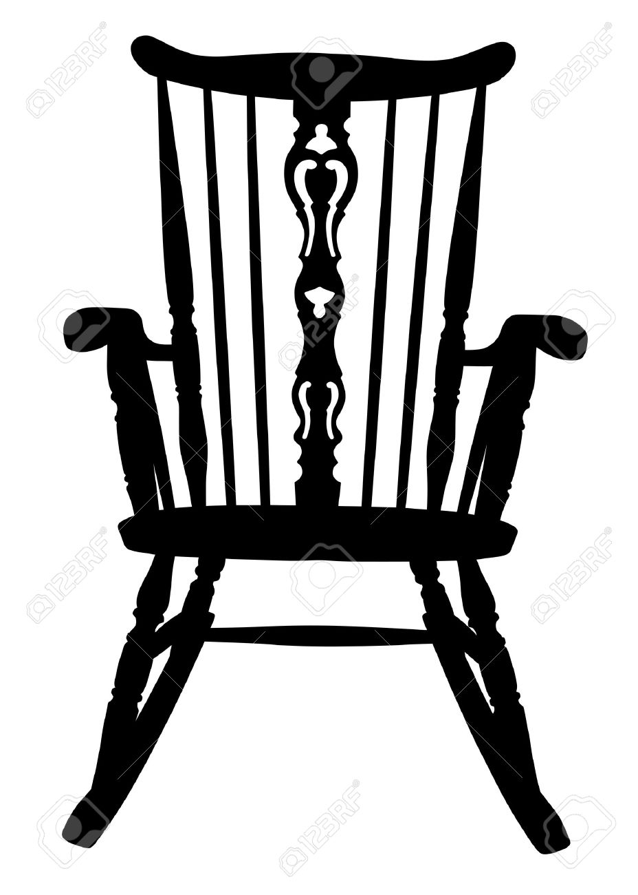 Vintage Rocking Chair Stencil Royalty Free Cliparts Vectors And