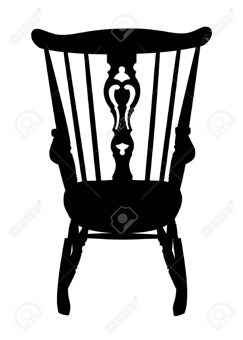 rocking chair silhouette. vintage rocking chair stencil - rear stock vector 15551184 silhouette