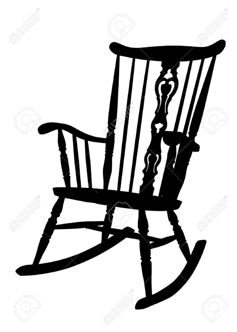 Free Vector Graphic Rocking Chair Rocker Drawing Image On Pixabay