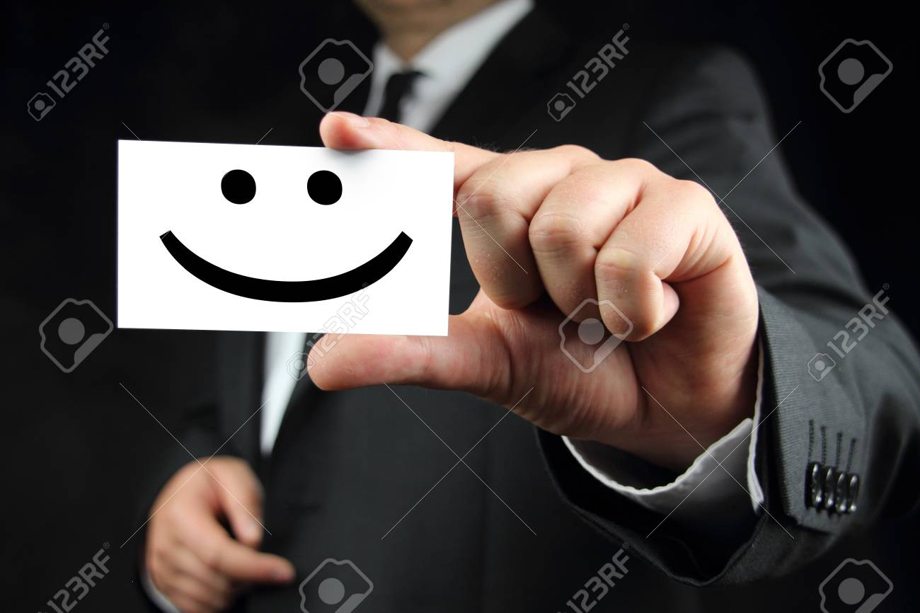 smile business card Stock Photo - 14605565