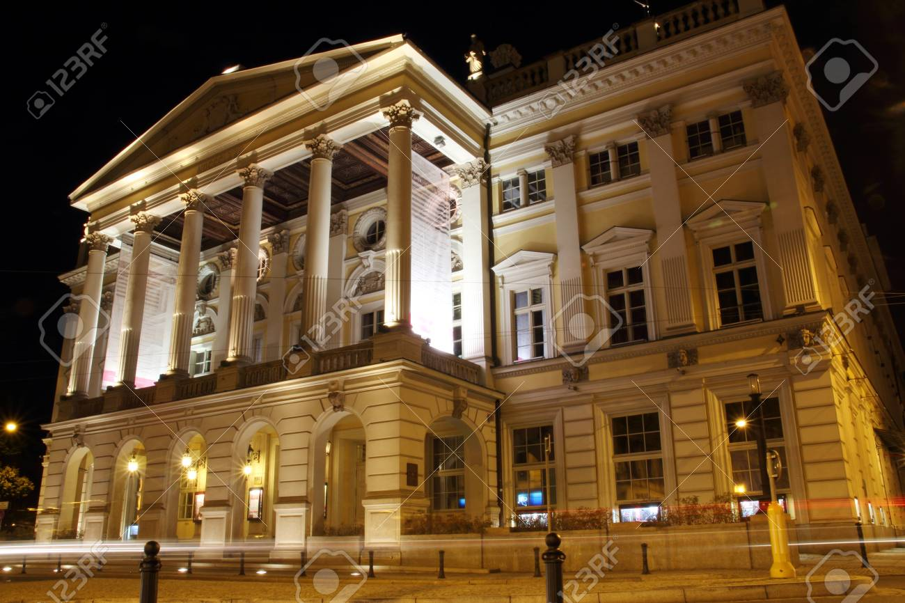 Opera in Wroclaw at night, Poland Stock Photo - 15724199