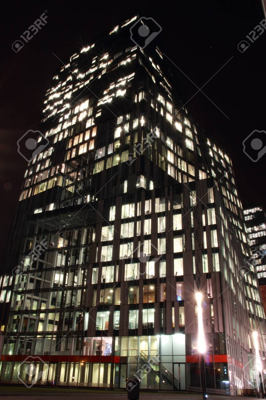 office buildings in Amsterdam at night, the Netherlands Stock Photo - 17228653