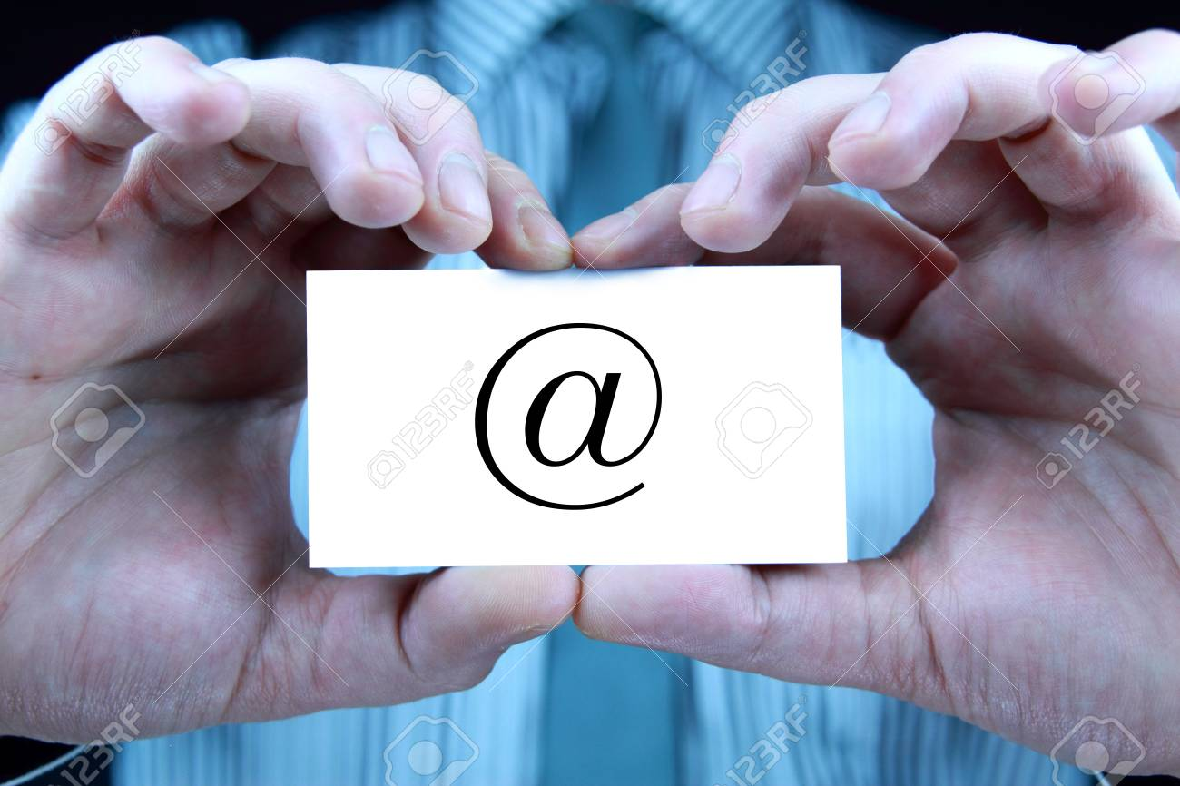 contact - business card Stock Photo - 17344651