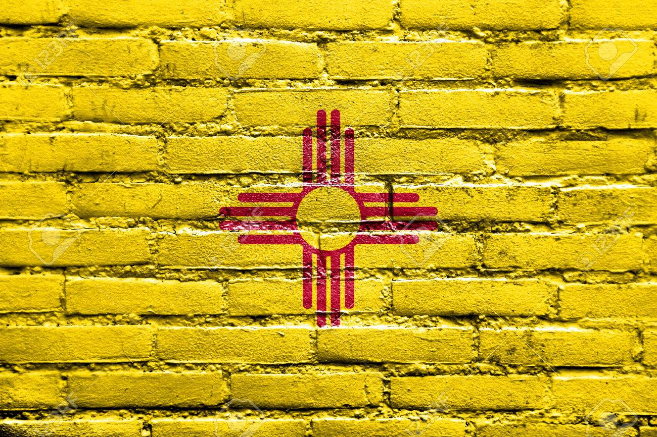 New mexico state flag painted on brick wall stock photo picture new mexico state flag painted on brick wall stock photo 25557535 buycottarizona