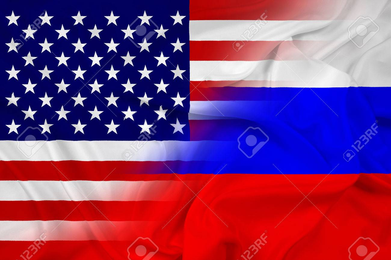 waving usa and russia flag stock photo picture and royalty free
