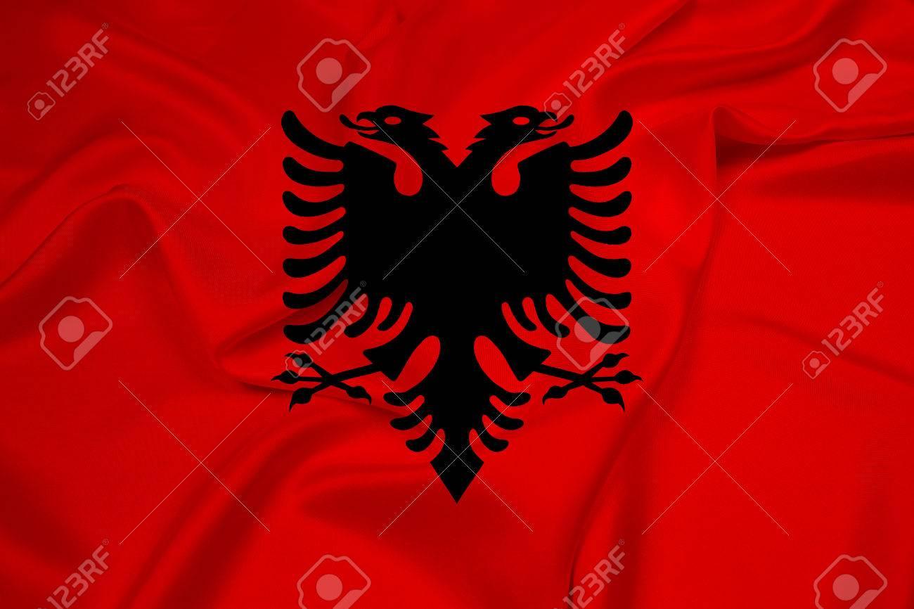 Albanian Flag Waving Waving Albania Flag
