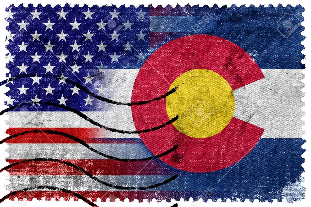 USA And Colorado State Flag