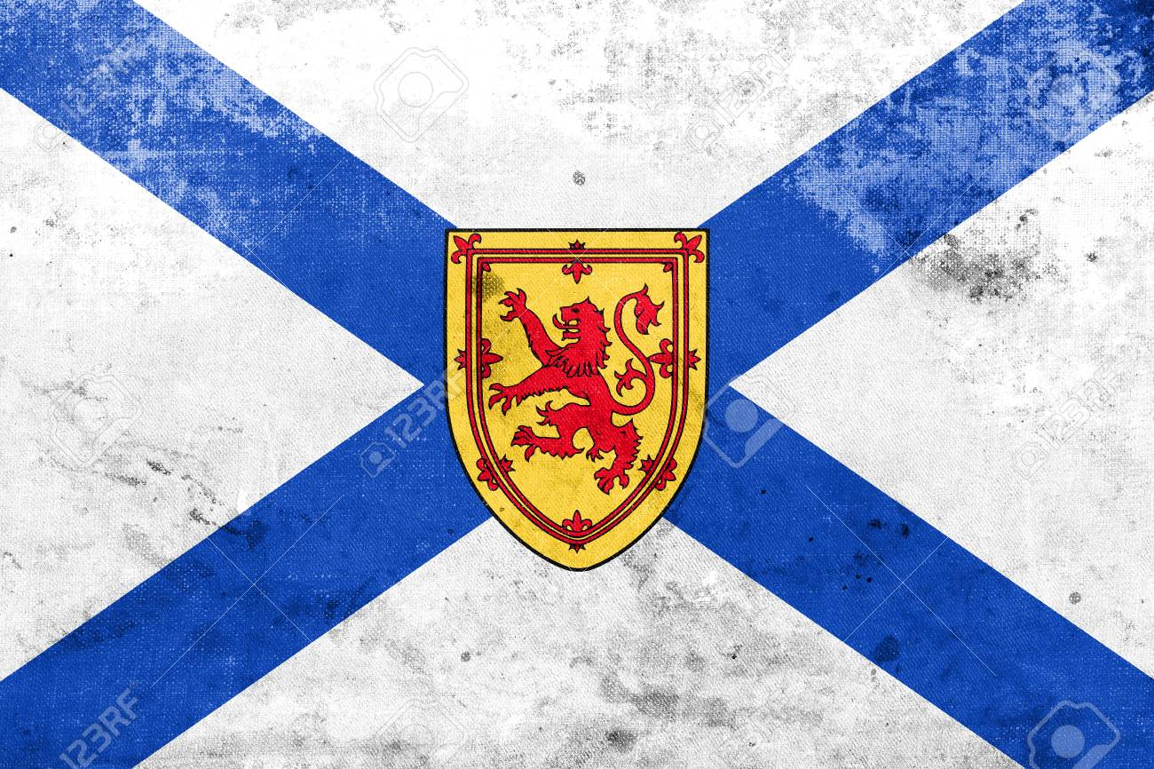 Flag Of Nova Scotia Province Canada With A Vintage And Old Stock Photo Picture And Royalty Free Image Image 59941526