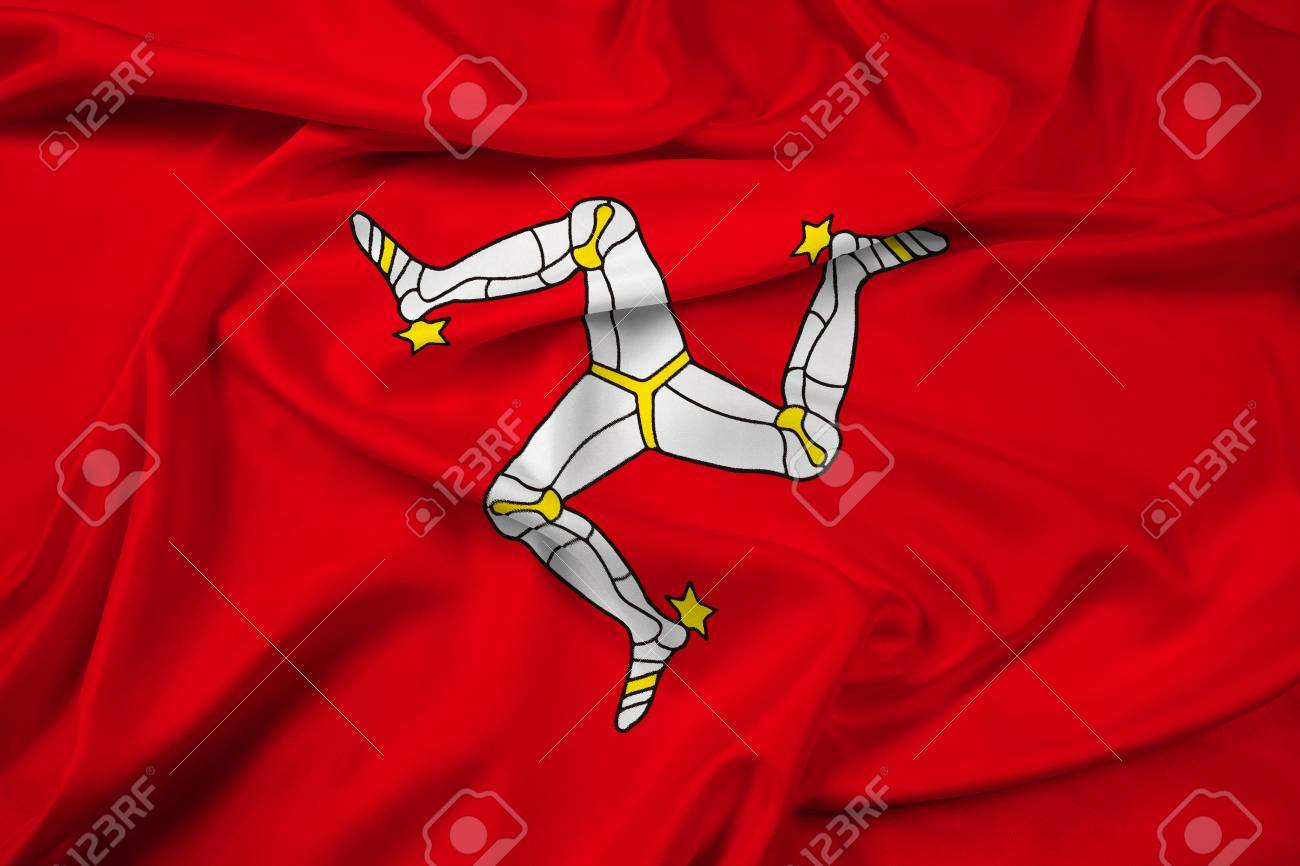 waving flag of isle of man stock photo picture and royalty free