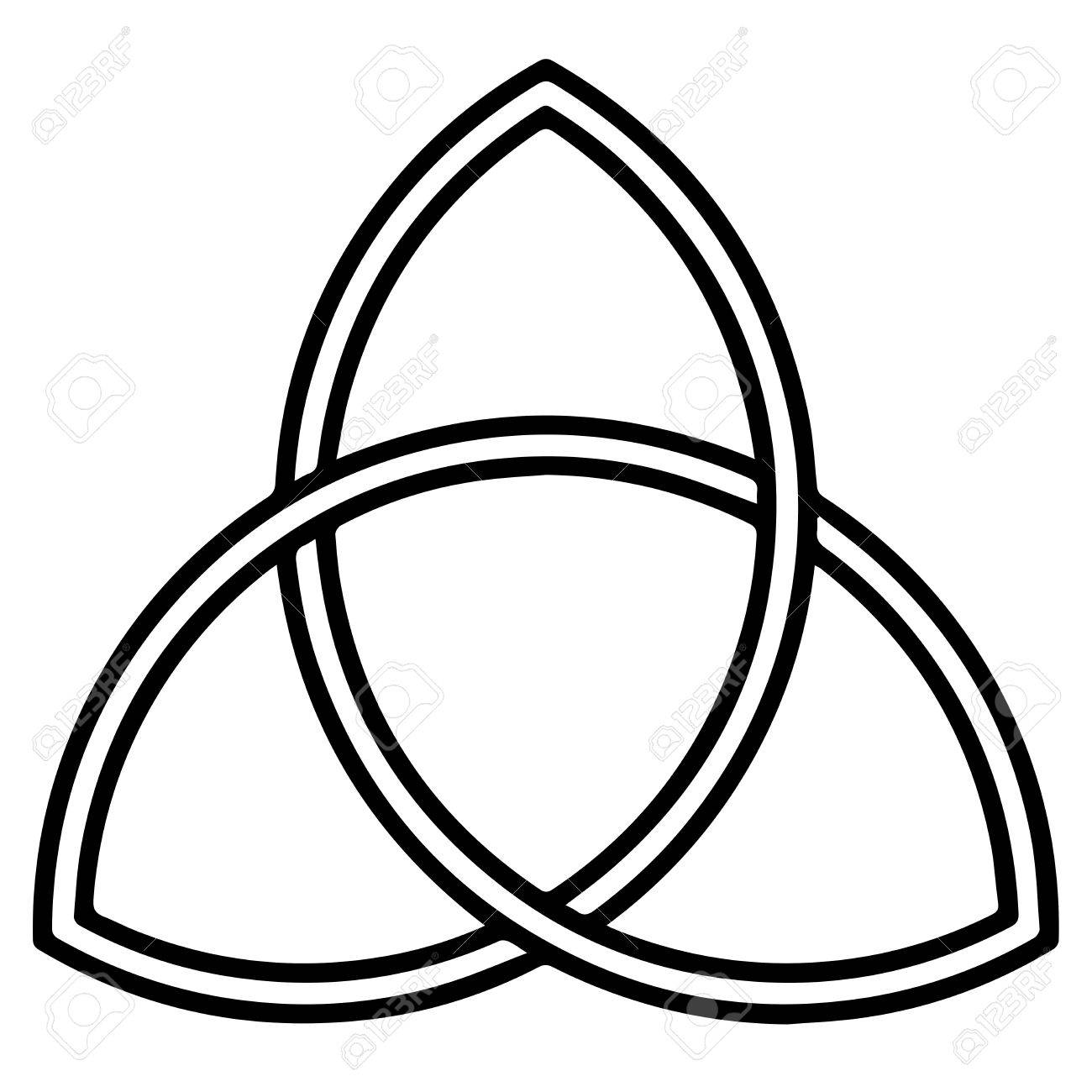 Religious sign. Christianity. Triquetra. Vector Format. - 71138657