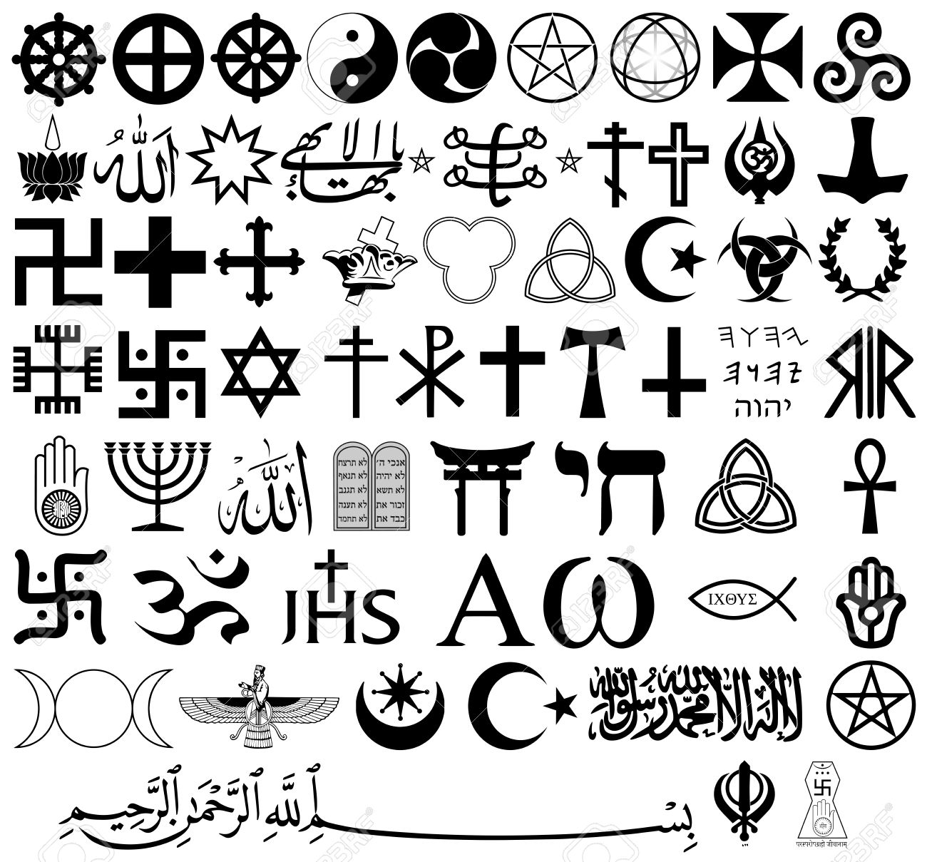 Religious Symbols From The Top Organised Faiths Of The World - Top religions in the world