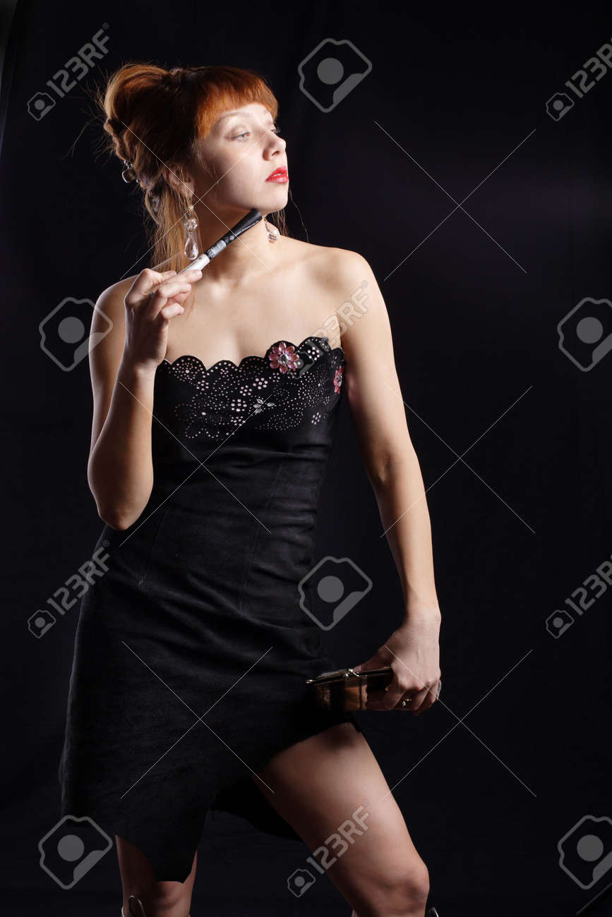 Portrait of a styled professional model. Shot in studio. Stock Photo - 804888