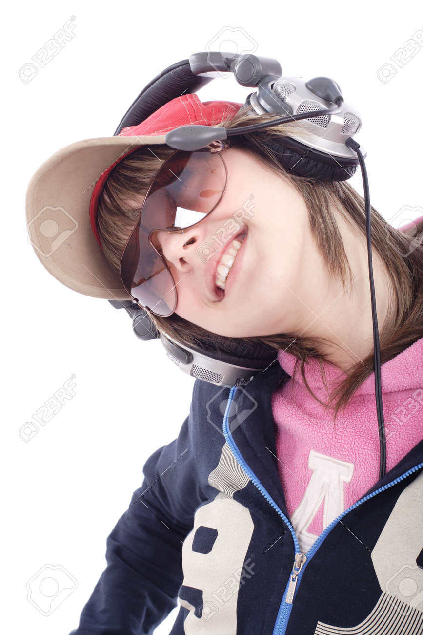 Portrait of a styled professional model. Theme: TEENS, MUSIC Stock Photo - 896062