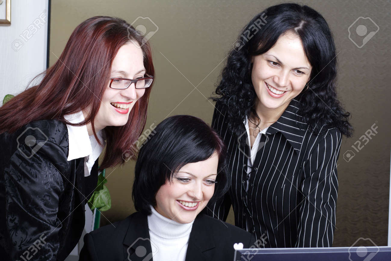 Group of 3 business people working together in the office. Stock Photo - 896146