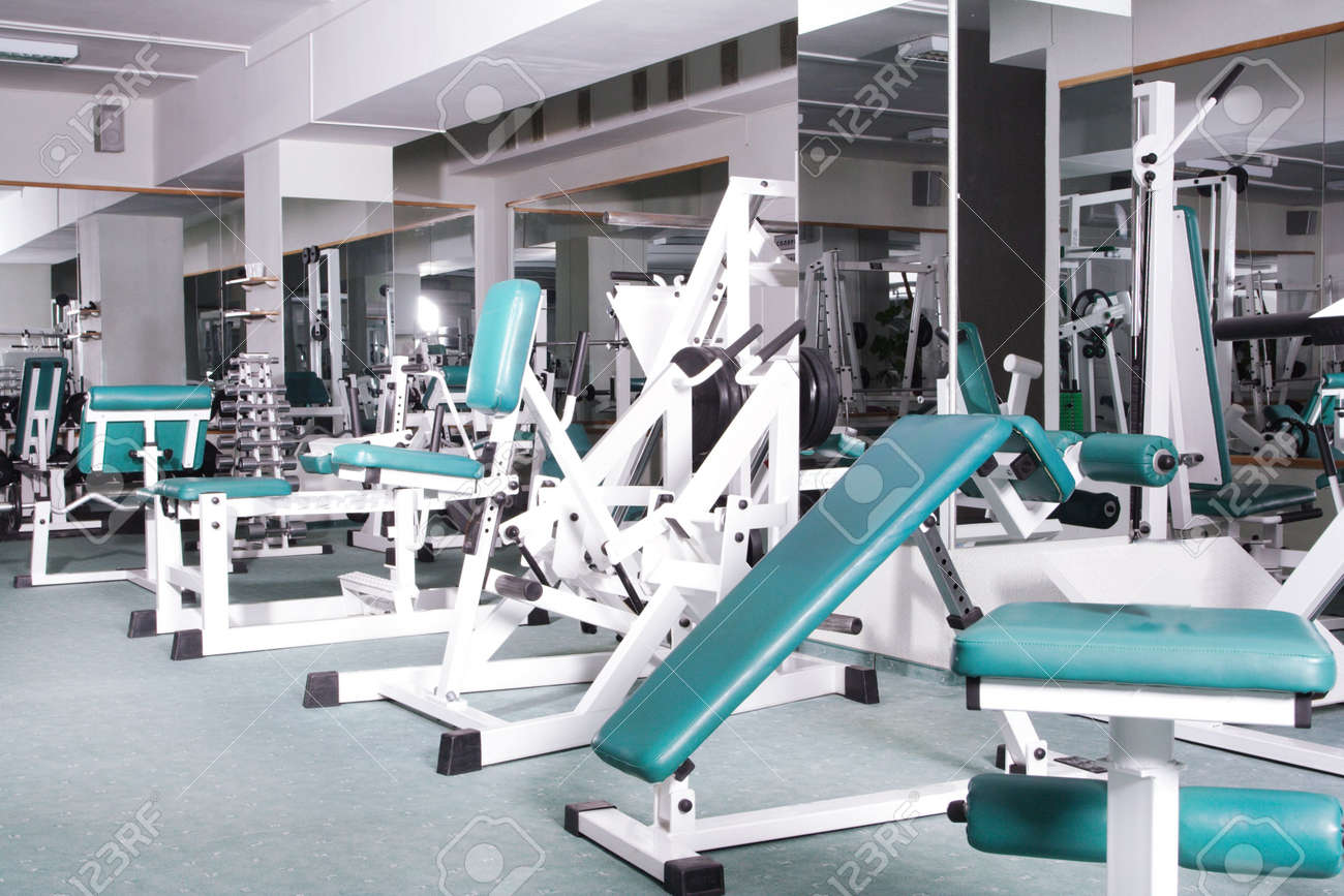 The champion in a fitness center. Stock Photo - 1107100