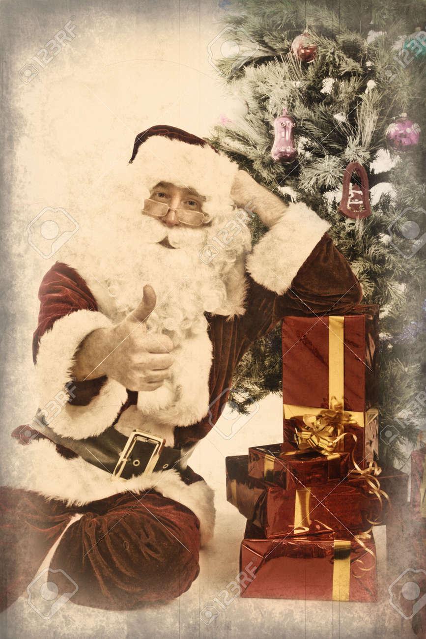Santa Claus showing thumbs up Stock Photo - 2071334