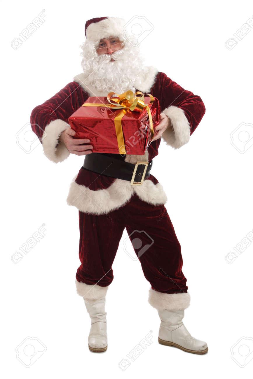 Santa holding a gift Stock Photo - 2068693