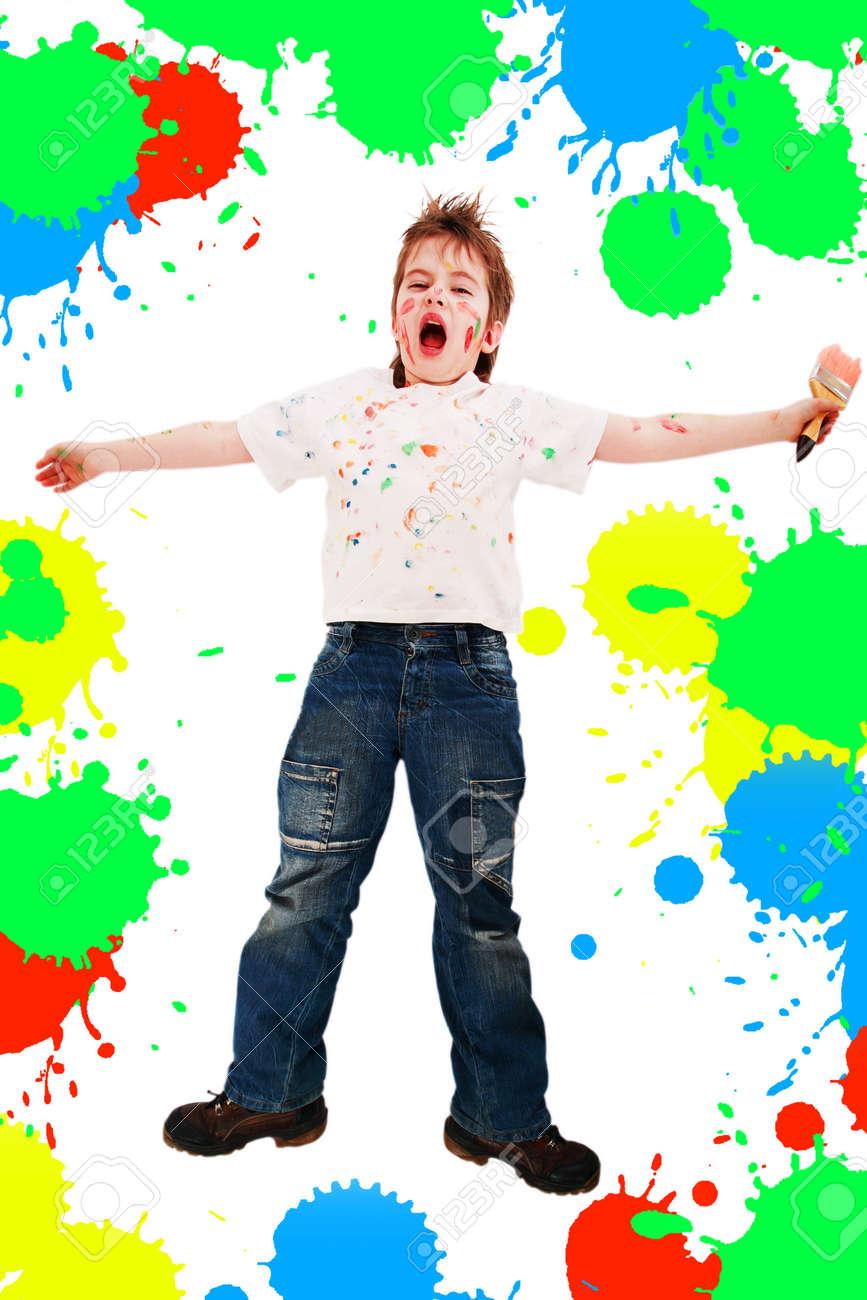 Portrait of a styled children. Theme: art, education, school Stock Photo - 2353988