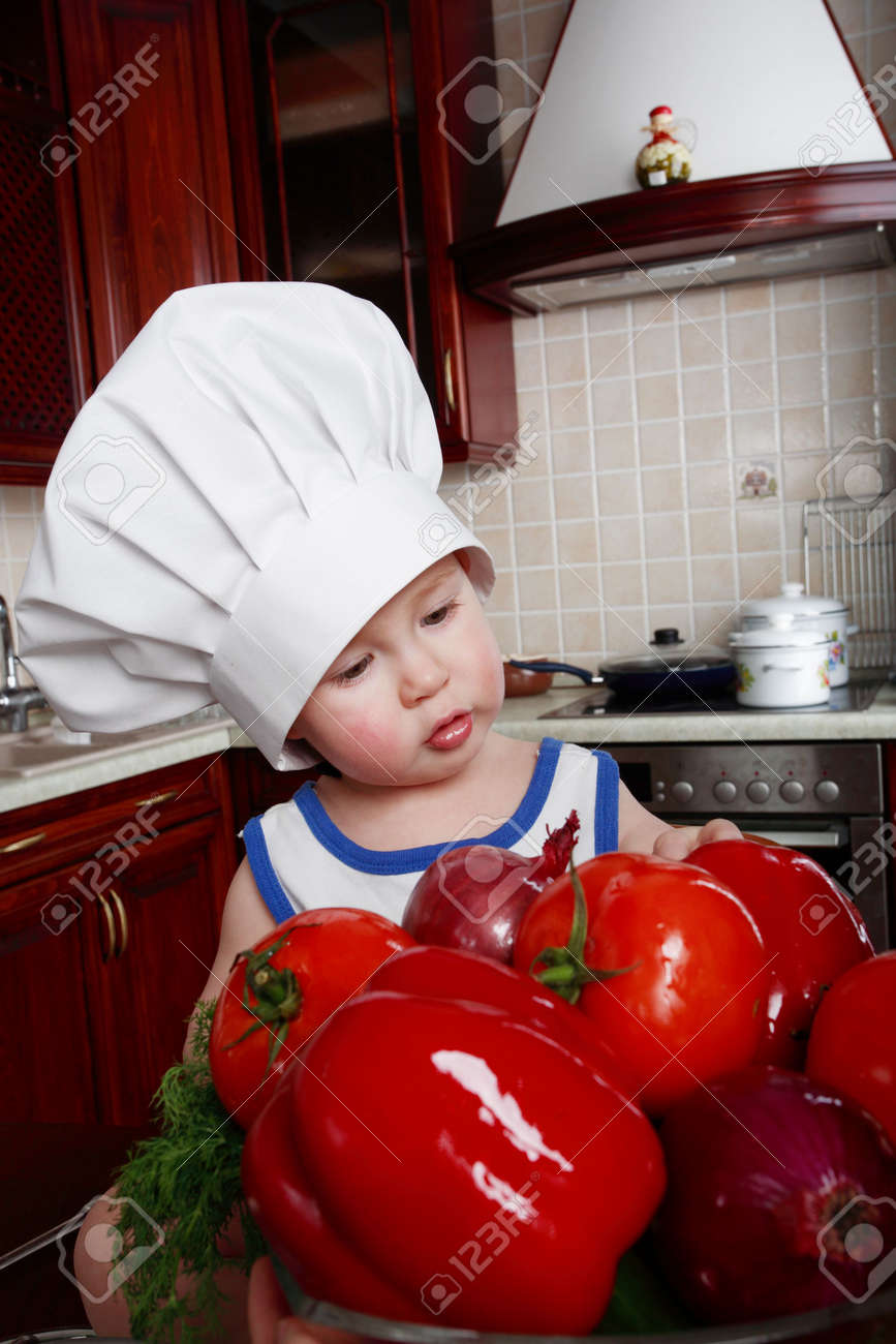 Little cook: fruits and  food Stock Photo - 2812077